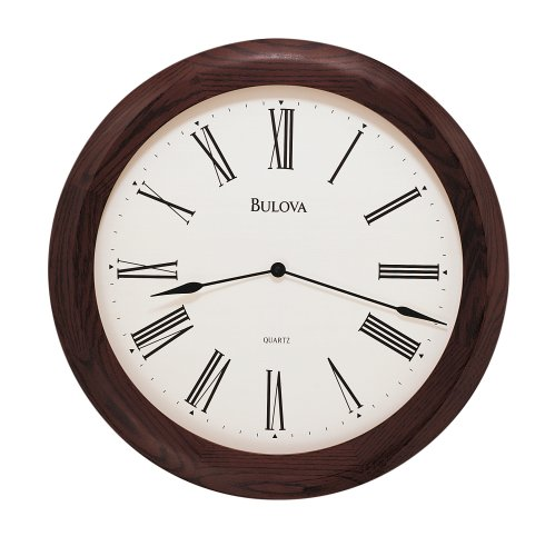 Bulova Kentshire Wooden 24 Wide Wall Clock