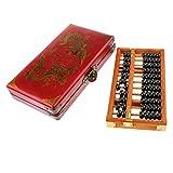Tachiuwa 木製 そろばん 11桁 算術 教育玩具 レトロ 木製ボックス付 子供知育玩具 ギフト