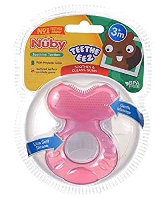 Nuby TeeThe-EEZ Soft Silicone Teether with Bristles