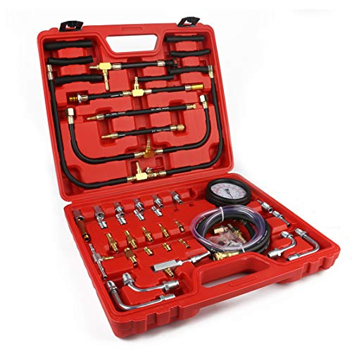 N A Fuel Injection Pressure Tester Kit Gauge 0-140 PSI/ 10 Bar Scale
