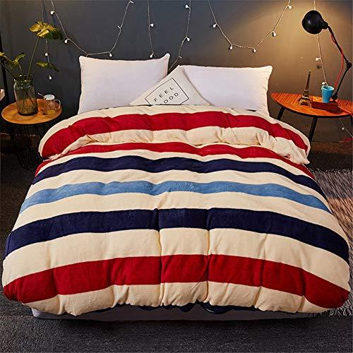 KLLT kinderdekbedovertrek voor 1 persoon, dik, dubbelzijdig, beddengoed, flanel, unicum, sprei, voor familie, slaapkamer, slaapzaal, enz.