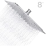 Charmingwater Regendusche 8 Zoll Quadratische 304 Edelstahl ultradünn Einbauduschköpfe Duschkopf