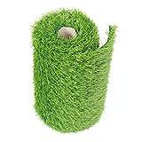 BUNDMAN Coureur Artificiel d'herbe Le Tapis d'herbe de Faux Vert de Gazon synthétique pour la décoration extérieure de fête de Mariage 0.3m x 2.7m