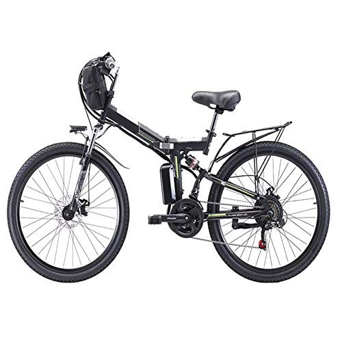 HSTD Mountain Bike Elettrica - Bicicletta Elettrica Pieghevole, Freni A...