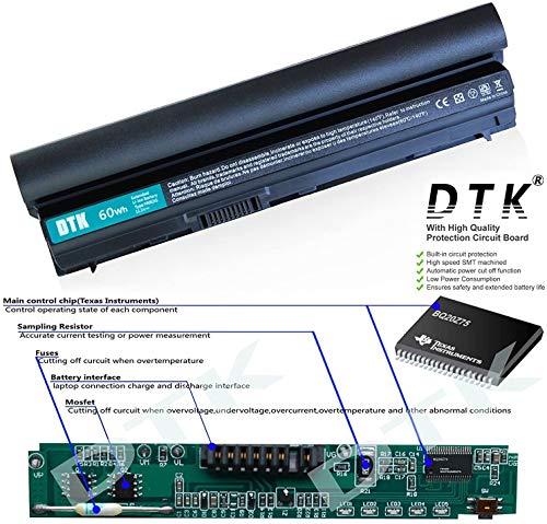 DTK® Ultra Hochleistung Notebook Laptop Batterie Li-ion Akku für Dell Latitude E6220 E6120, E6230, E6320, E6330 E6320XFR E6430S Serie, 312-1241 [Li-ion 11,1V 4400mAh] 12 Monate Garantie
