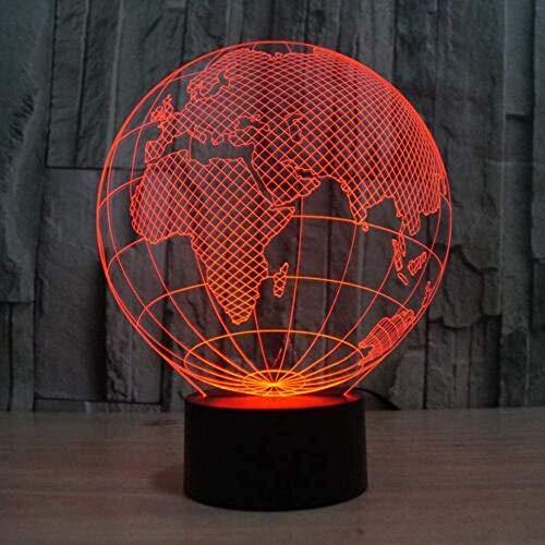 Acryl Europa Globe 3D Lamp Touch Welke USB 3D Visuele Kleurrijke Sfeer Kerstmis Gift Kindernachtlampje