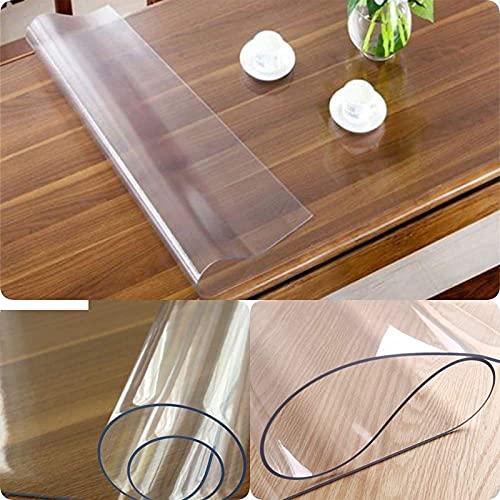 QREA Película transparente del mantel de, protector claro de la cubierta de la mesa, cojín 40x40cm/15.7x15.7in del cuenco del PVC de 1 milímetros