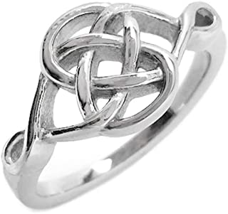 Stainless Steel Celtic Knot Love Promise Commitment Ring (Sizes 5-10)