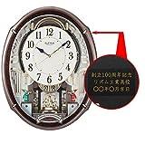 リズム時計工業(Rhythm) 掛け時計 木目仕上 49.9x38.9x10.8cm からくり時計 【 名入れ & 包装 】 ギフト 記念品 対応 4MN545RH23