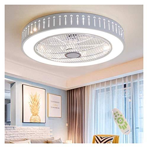 Ventilador de techo LED con iluminación Invisible Ventilador Luz Ajustable Dormitorio Moderno Fan Luces de techo Dimmable Sala de estar Lámpara Control remoto Silent Niños Habitación Ventilador Lámpar