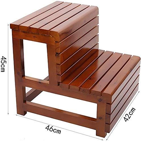 Stevige stoel Kleine Seat, Schoen, Bar, Dining, Restaurant, Step Ladder, voorzitter, tafels en stoelen, Step Badkamer massief houten Step Ladder Badkuip Pedal, waterdicht Anticorrosion (Color : B)