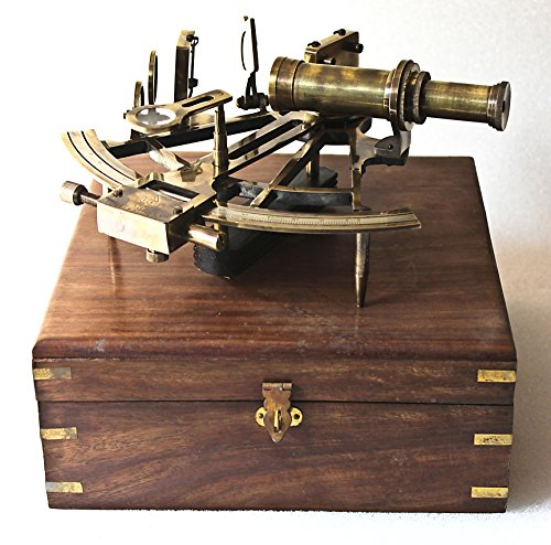 Collectibles Buy Nautical Marine Heavy German Working Model Ship Sextant Sea Collectible Antique Wooden Box Gift Item