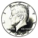 1964 - Kennedy Half Dollar 90% Silver 2 Coin Set Uncirculated