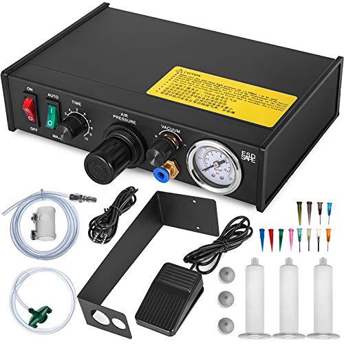 VEVOR Auto Glue Dispenser Dual Controller 24V DC Solder Paste Glue Dropper 982A Digital Display Solder Paste Liquid Controller Dropper Machine