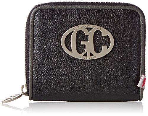 Poodlebag Unisex-Erwachsene Wallet small Geldbörsen, Schwarz (black), 11x10x2 cm
