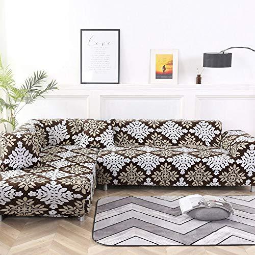 WXQY Funda de sofá Familiar, se Puede Utilizar para Chaise Longue de Esquina en Forma de L, Funda de sofá elástica, Funda de sofá elástica para Sala de Estar A13 de 2 plazas