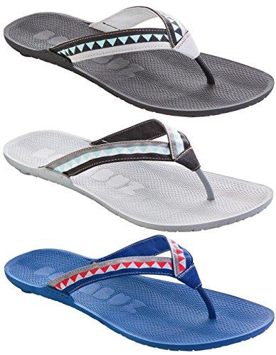 Boombuz 100% Nature und VEGAN, Taiga Half Dressed Flip Sandals Flops Zehentrenner Zehenspreitzer (44, Black/Black-Grey)