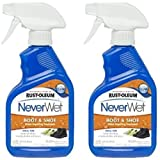 Rust-Oleum 280886 NeverWet 11-Ounce Boot and Shoe Spray, Clear (2 Pack)