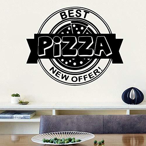 yaonuli Exquisita Pizza Etiqueta de La Pared Personalizada Creativa para Niños Etiqueta de La Pared Habitación Decoración del Hogar 45x54cm