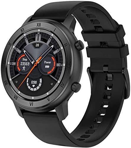 TYUI Reloj inteligente Full-Touch Sports Pareja IP68 impermeable Health Tracker Monitoreo de frecuencia cardíaca compatible con Android e IOS Phones-F