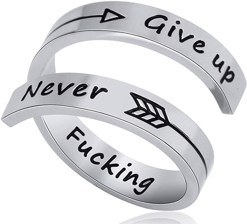 Jude Jewelers Stainless Steel Inspirational Mantra Statement Graduation Cocktail Party Ring