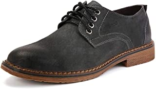 TONGDAUAE Shoes Oxford Shoes Safety Work Boot For Men Strong Antislip Suede Leather Low Top Round Toes Low Stacked Men's l...