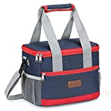 1Easylife Lunch Bag Insulated Lunch Box Wide-Open Lunch Tote Bag Large Drinks Holder Durable Nylon Thermal Snacks Organizer for Women Men Adults College Work Picnic Hiking Beach Fishing