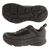 HOKA ONE ONE Women's Bondi 6 Running Shoes, Black/Black, 9 Wide US