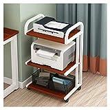 Soporte de Impresora Escritorio de impresora móvil de pie de 3 capas de pie, marco de metal, usado para la sala de estar de oficina máquina de escáner del escáner Rack de Almacenamiento para Impresora