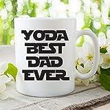 Tazza da caffè Yoda Best Dad Ever White