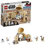 LEGO Star Wars, La cabane d'Obi-Wan, Set de construction avec hologramme de la princesse Leia, Série Un nouvel espoir, 146 pièces, 75270