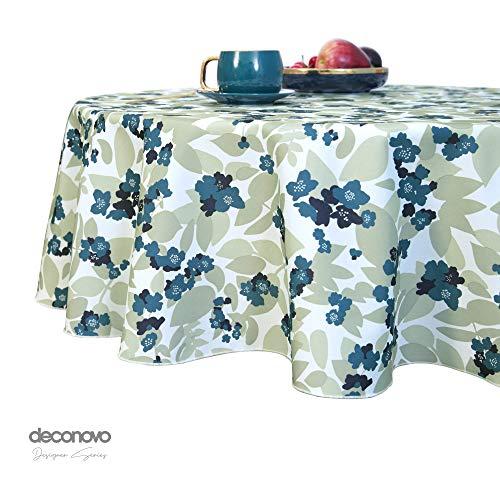 Deconovo Bedrukte Tafelkleed met Bloemenpatroon