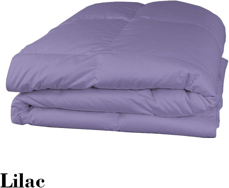 Dreamz Parure de lit Super Doux 350Fils 100% Coton 1Housse de Couette (100g m2 Fibre Fill) Single Long, Lavande violets Solide Coton égypcravaten 350tc Doudou