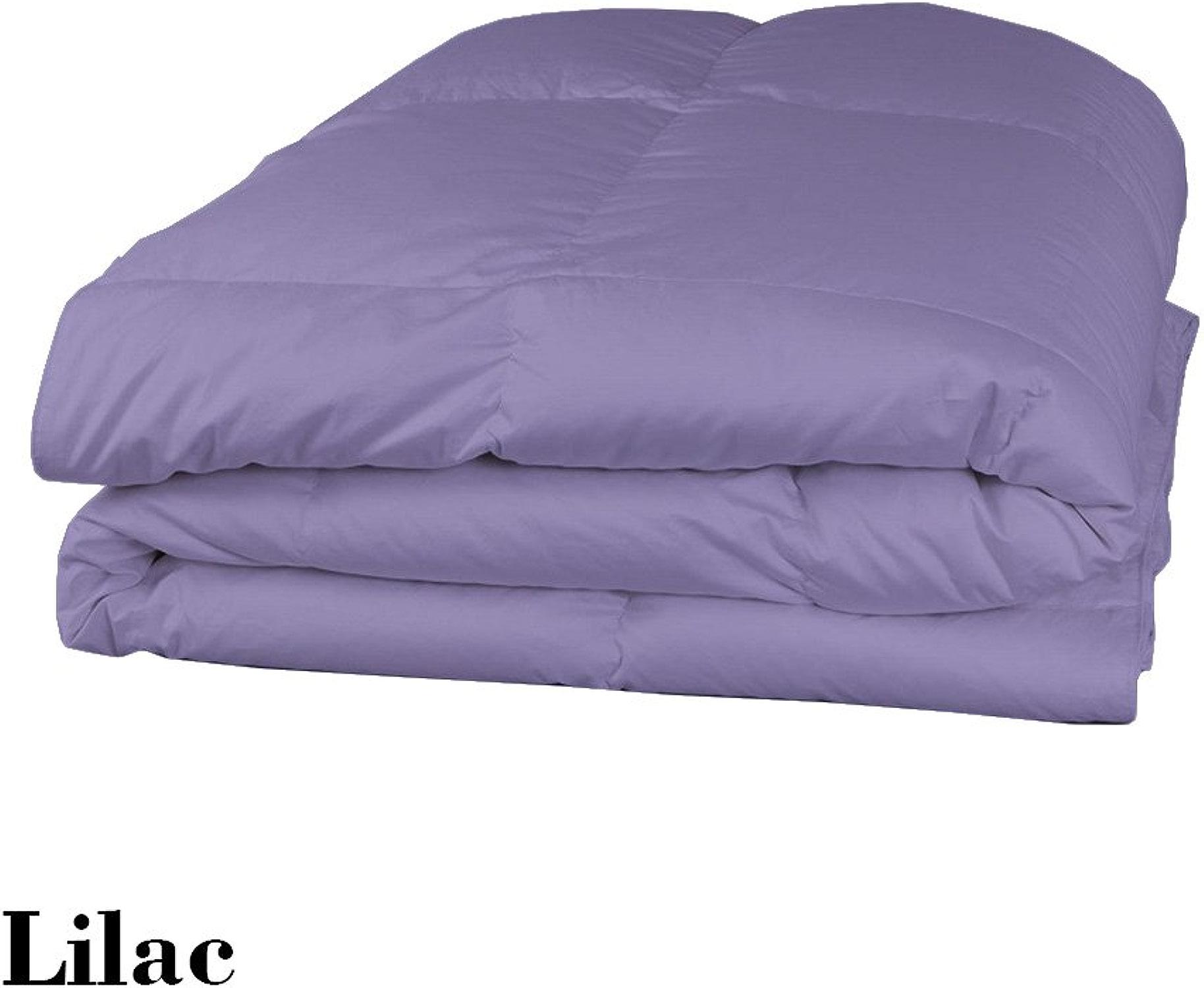 Dreamz Parure de lit Super Doux 650Fils 100% Coton 1Housse de Couette (100g m2 Fibre Fill) UK Petite Taille Unique Longue, Lavande violets Solide Coton égypcravaten 650tc Doudou