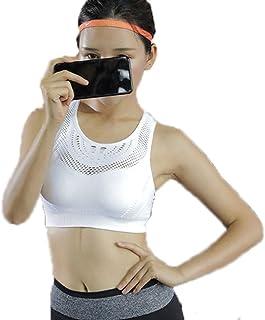 Sports Lingerie Women-Shockproof Running Push-up Yoga Vest Shape American Back Bra Fitness Shock-Proof Corset (Color : Whi...