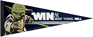 Bek Brands Baseball Teams Special Collector's Flag Banner Pennant with Yoda, Chewbacca, Darth Vader, 12 x 30 in (New York Yankees, Yoda)