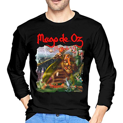 Camisetas de Manga Larga, Hombre, Camisas Casual, Ropa Deportiva, Mens Mago De Oz Finisterra Long Sleeve T Shirt Black