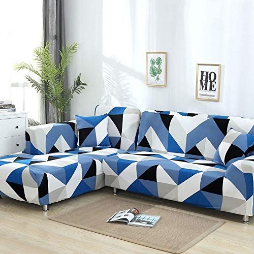WXQY Geometrisches Muster L-förmige Kombination Sofabezug Sofa Handtuch Wohnzimmer All-Inclusive staubdichter Sofabezug Bezugstuch A2 1-Sitzer