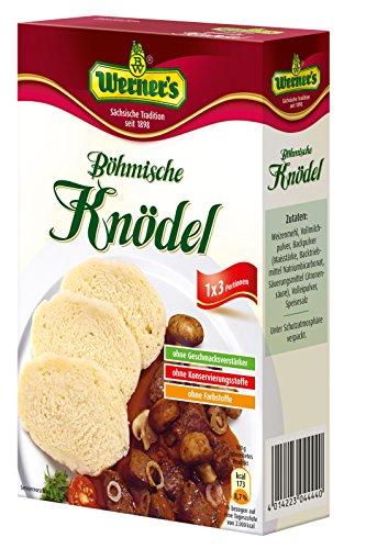 Werner´s Böhmische Knödel 3 Portionen, 8 Packungen pro Karton, Ohne Konservierungs- und Farbstoffe, ohne Geschmacksverstärker