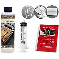 Limpiador de boquillas Octopus 250 ml, limpiador de cabezales de impresión compatible con los cabezales de impresión Canon Pixma con adaptadores de manguera