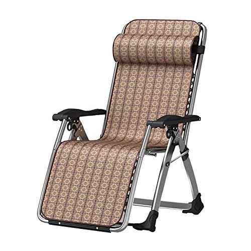 YXB Mat Lounge Chair, Folding Sun Lounger Foldable Deck Chair Reclining Garden Chair Leg Rest Reclining Back Folding Bed Simple Fold Lunch Break Couch Office(black+Mat)