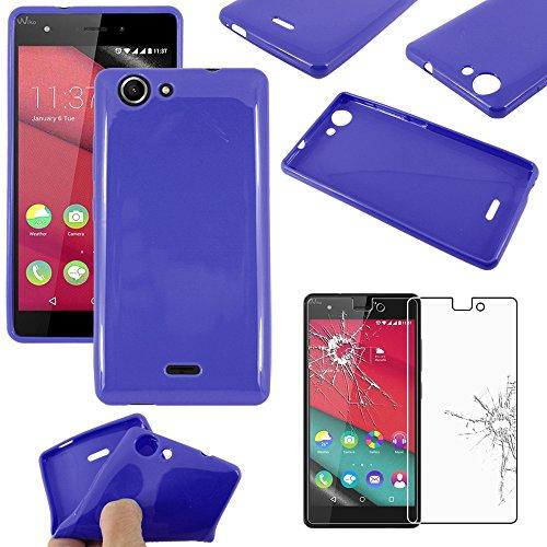 ebestStar - Funda Compatible con Wiko Pulp 4G Carcasa Transparente Silicona Gel Estuche Flexible, Azul Oscuro + Cristal Templado Protector Pantalla [Aparato: 143.9 x 72 x 8.8mm, 5.0'']