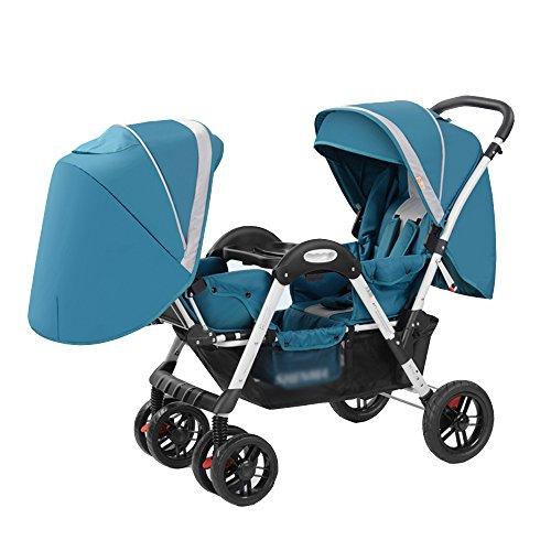 Fiets LVZAIXI- Veilig Compleet Trio Reissysteem Kinderwagen & Luxe Kinderwagen