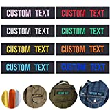 MVCEN Custom Name Patches, Personalized Military Patches 2 Pieces, Custom Name Tag Metallic Embroidery Thread, Tactical Moral Name Patch for Uniform, Jacket, Hoodie, Backpacks, Vest