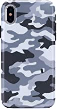 Gray Black Camo iPhone Xs Case/iPhone X Case - Premium Protective Cover - Cool Phone Cases for Girls & Men [Drop Test Certified]