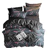 Set copripiumino 100% cotone spazzolato, set di biancheria da letto con federe, set copripiumino per bambini, adulti, uomini e donne (tempo nordico, 220 x 240)