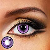 Eyes Color Contacts Cosmetic Makeup Eye Shadow Palette Anime Party Dress Up Costume Masquerade Accessories Halloween Elven Vampire Fairy - Eyes Painting Supplies (Three Hook Jade-Purple)
