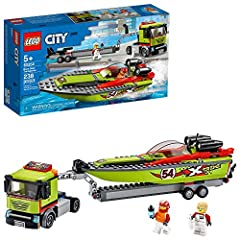 The LEGO City Speed Boat Transporter comes with a cool truck, a boat that floats, and is an amazing building set for kids who love action-packed toys! This building kit includes everything a kid needs for creative independent play including a toy tru...