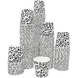 150 Vasos Desechables de Café para Llevar - Vasos de Carton Blancos de 120ml Biodegradables Tazas de Te para Bebidad Frias y Calientes Compatible con Cafeteras Nespresso y Dolce Gusto