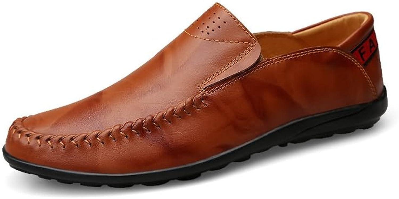 EGS-schuhe Herren Driving Loafers Slip auf Bequeme Mokassins Mokassins Freizeitschuhe,Grille Schuhe (Farbe   rot braun, Größe   37 EU)  praktisch